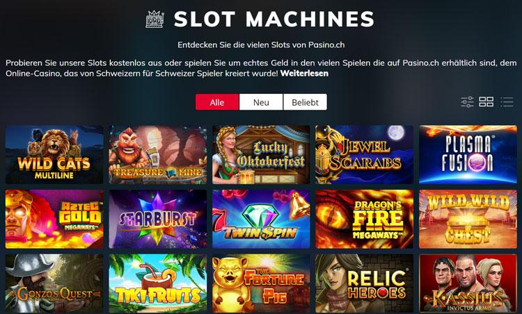 Pasino Spieleangebot Casino