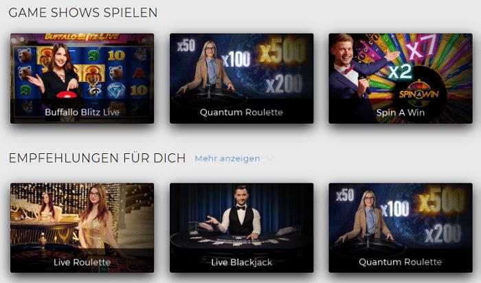 Live Auswahl Swiss Casinos
