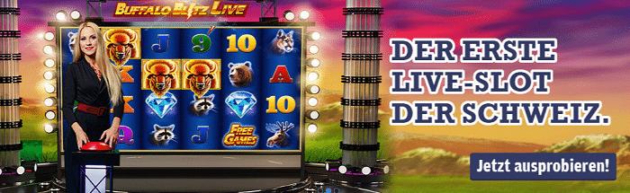 Live Casino Slot bei Swiss Casinos