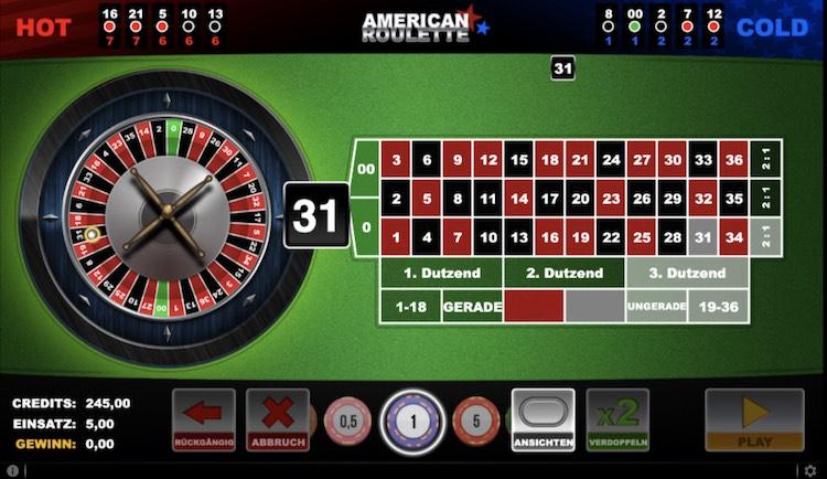 Roulette Online spielen in Schweizer Casinos. American Roulette von Gaming1