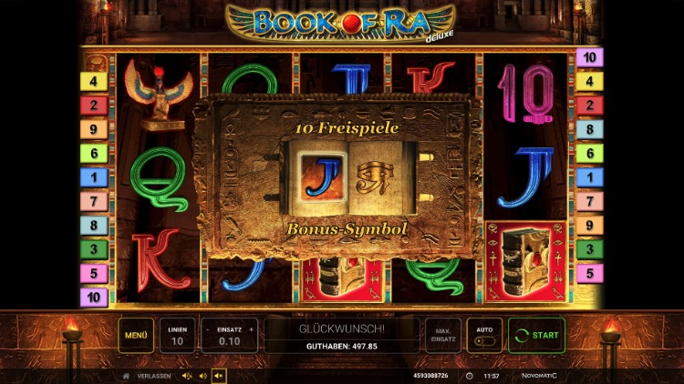 Book of Ra Deluxe Free Spins