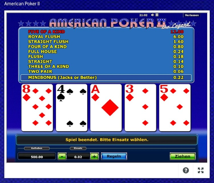Video Poker American Poker II