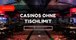 Casinos ohne Tischlimit