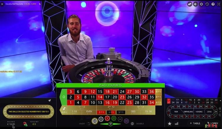 Double Ball Roulette von Evolution Gaming in der Demoversion