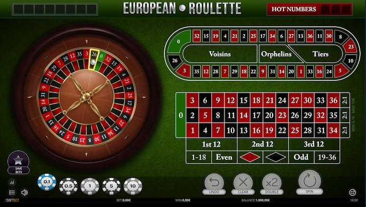 European Roulette von iSoftBet in der Demoversion
