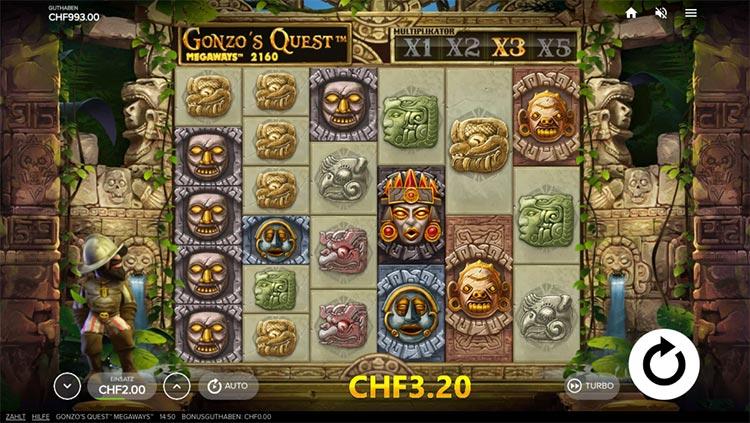 Gonzos Quest Megaways Aufbau