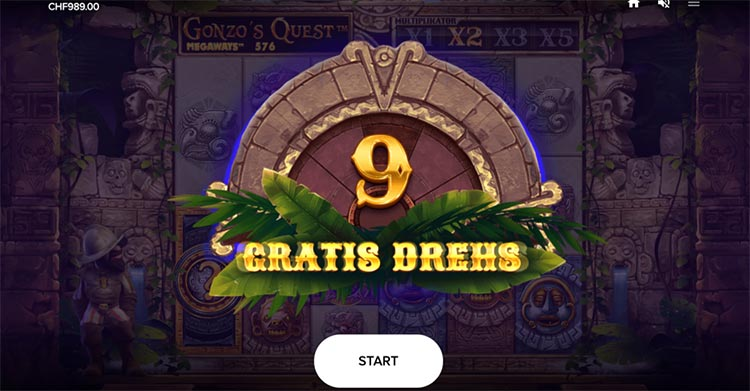 Gonzo's Quest Megaqays Free Spin Feature
