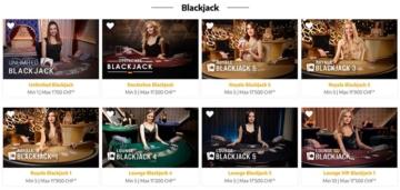 Black Jack im Swiss4Win Live Casino